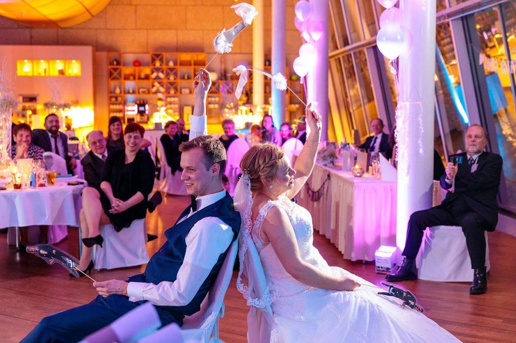 Viel Freude beim Hochzeitsspiel
