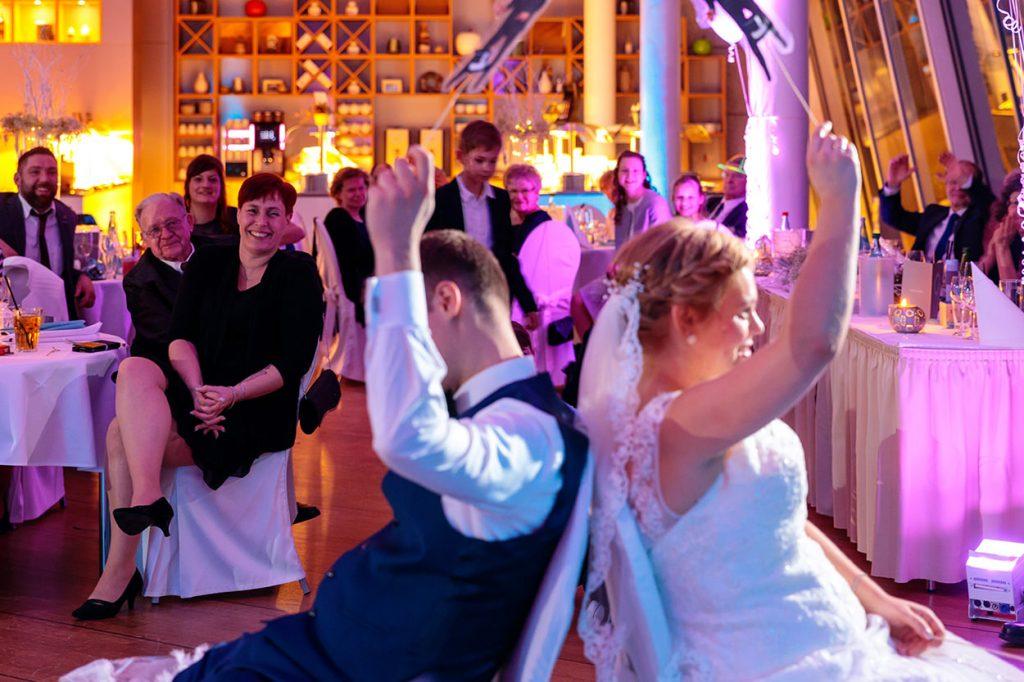 Und auch die Gäste hatten viel Spaß beim Hochzeitsspiel