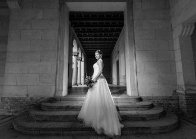Hochzeitsfotos bei Regen in der Friedenskirche