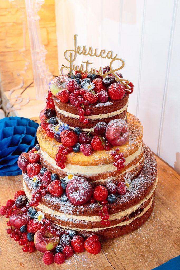 Naked Cake Hochzeitstorte am Wannsee