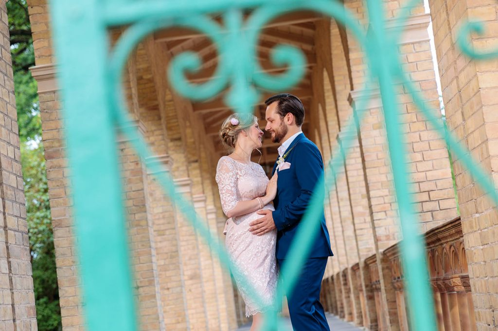 Das Brautpaar nach der standesamtlichen Trauung