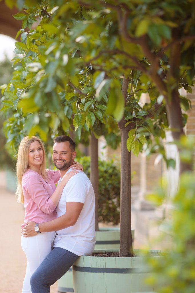 Verlobungsfotos an der Orangerie Potsdam