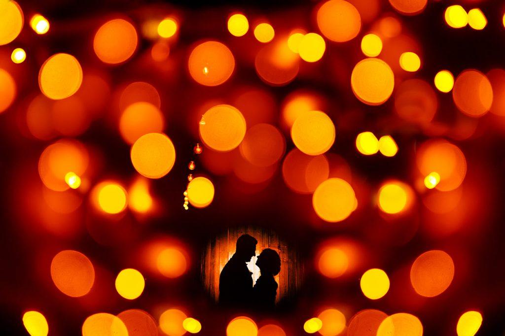 Wunderschönes Lichtspiel für unvergessliche Hochzeitsfotos