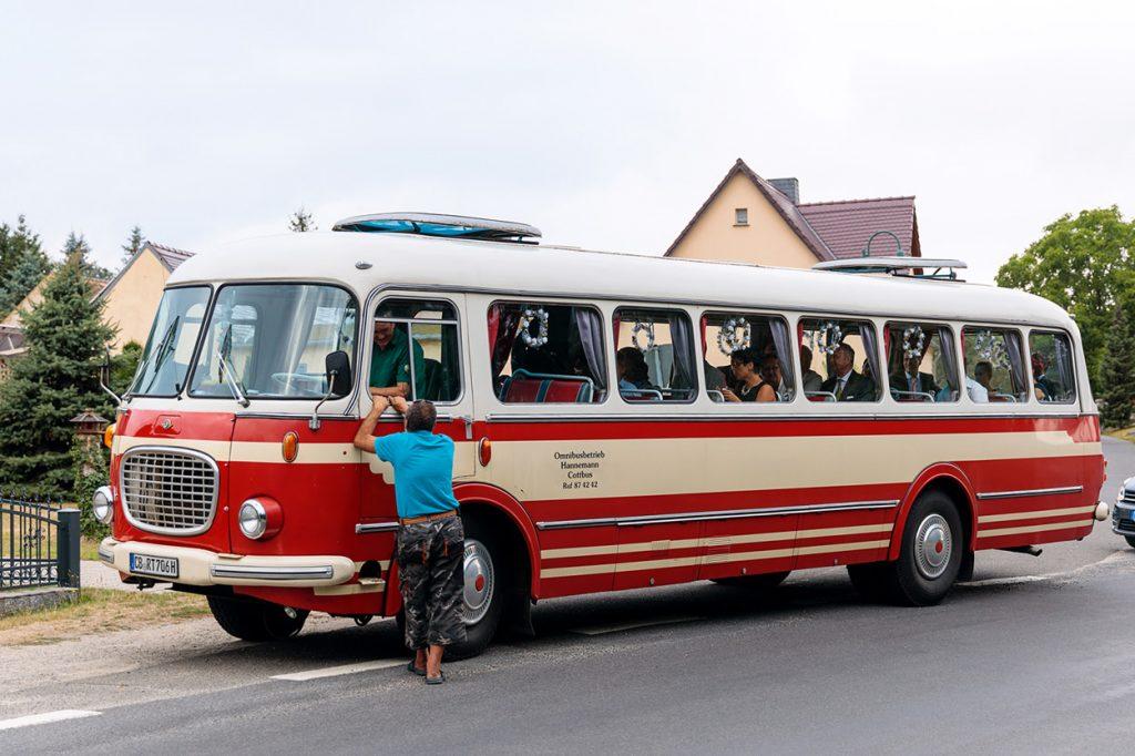 Der Bus für die Gäste