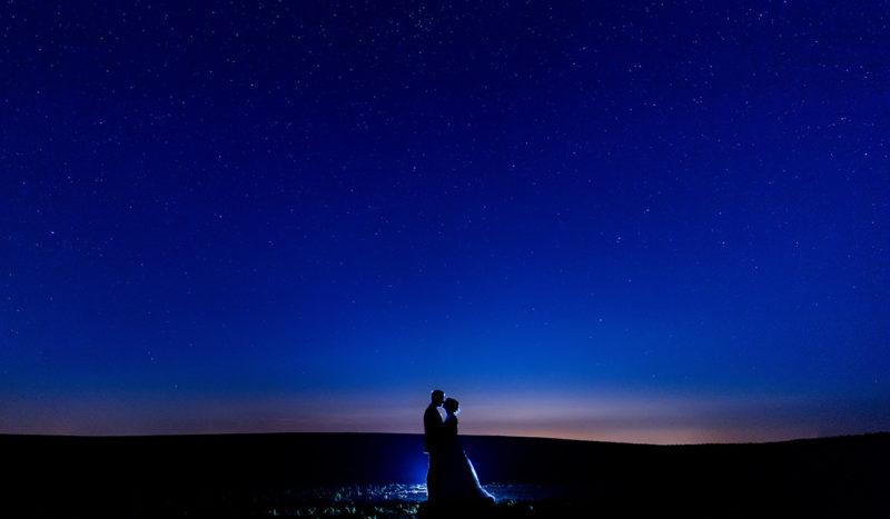 Hochzeitsfotos unter dem Sternenhimmel in Brandenburg