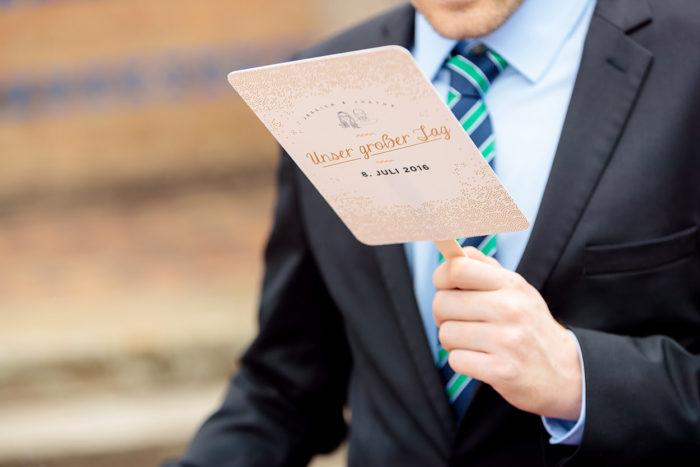 Personalisierte Fächer zur Hochzeit