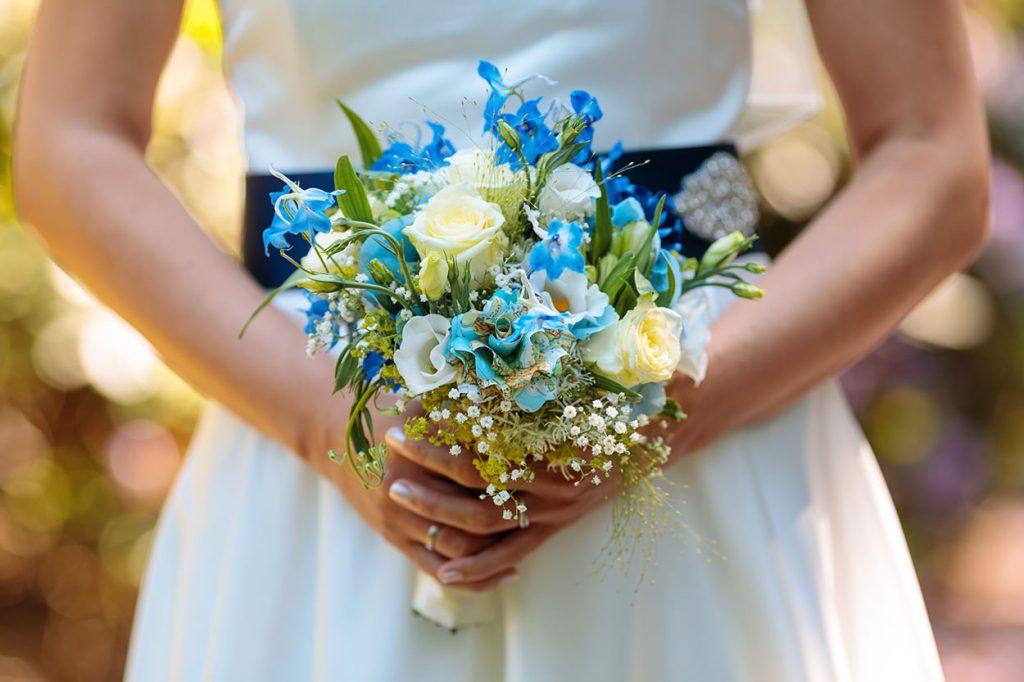 Ein sommerlicher Brautstrauß in Lübeck
