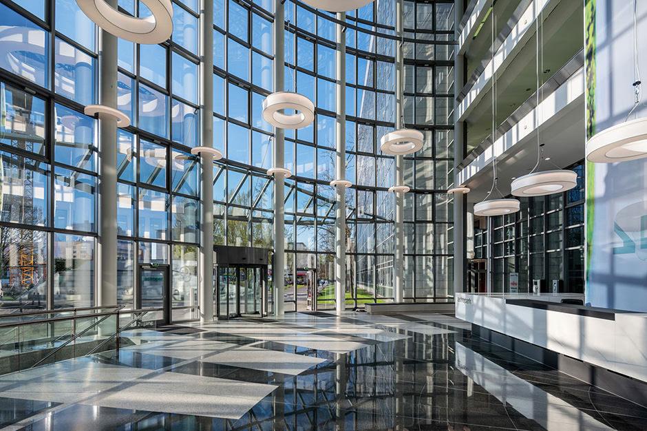 Innenaufnahme Empfangsbereich in Frankfurt