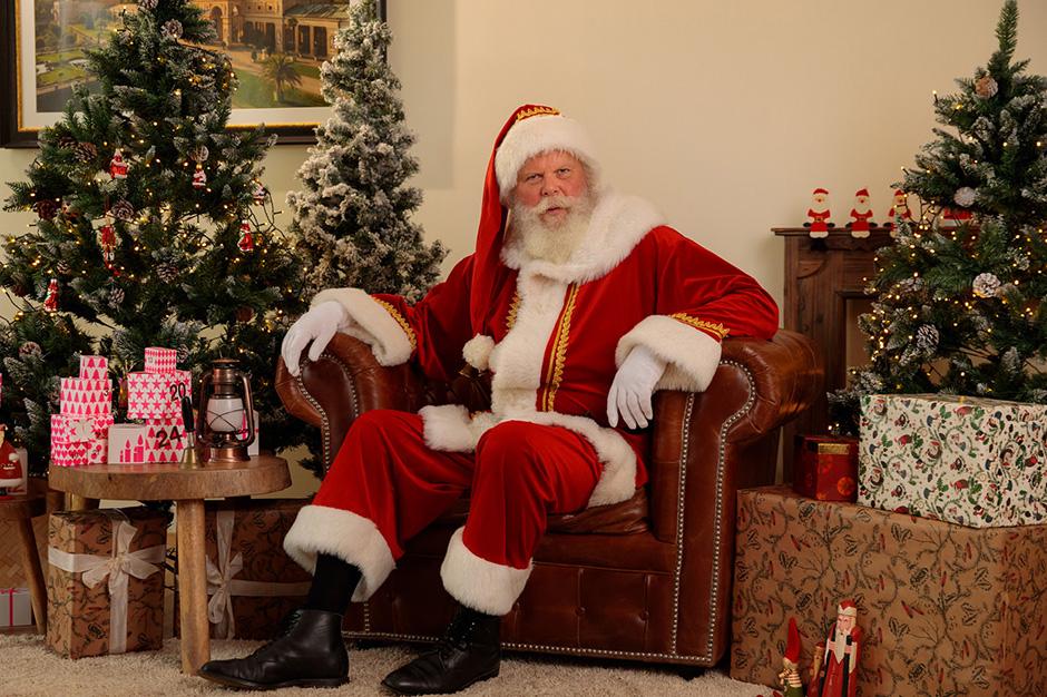Der Weihnachtsmann beim Fotoshooting in Potsdam