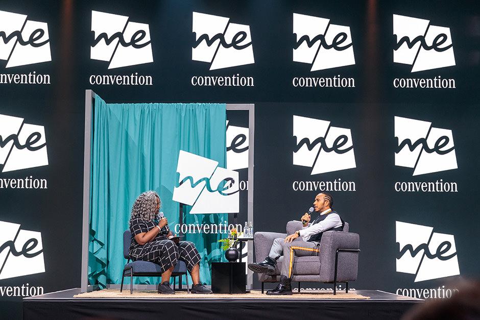 Lewis Hamilton bei der Mercedes Me Convention der IAA Frankfurt 2019. Eventfotograf, Veranstaltungsfotograf