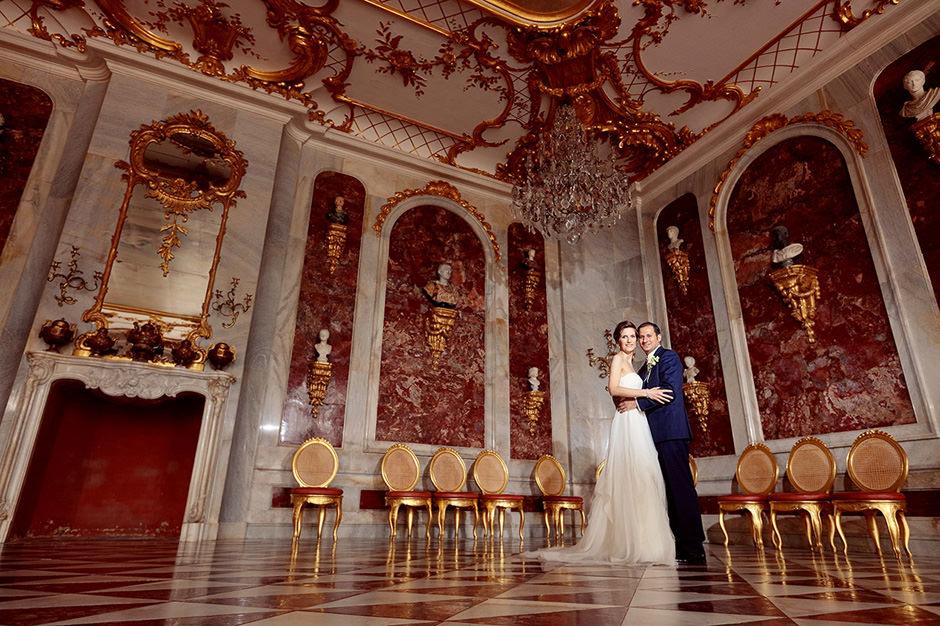 Hochzeitsfotos in den Neuen Kammern in Potsdam