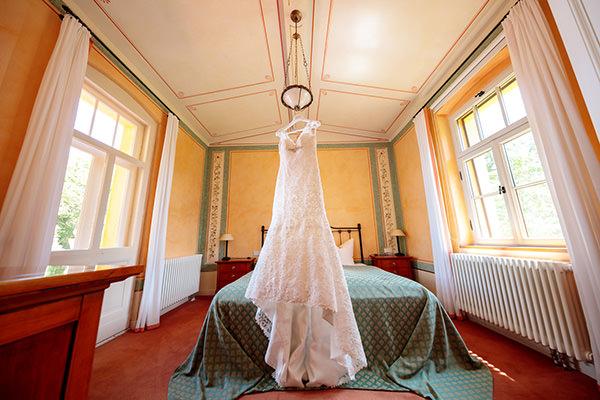 Blick in die Hochzeitssuite des Kavalierhaus Caputh am Templiner See