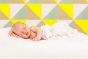 Babyfoto mit schlafenden Kind