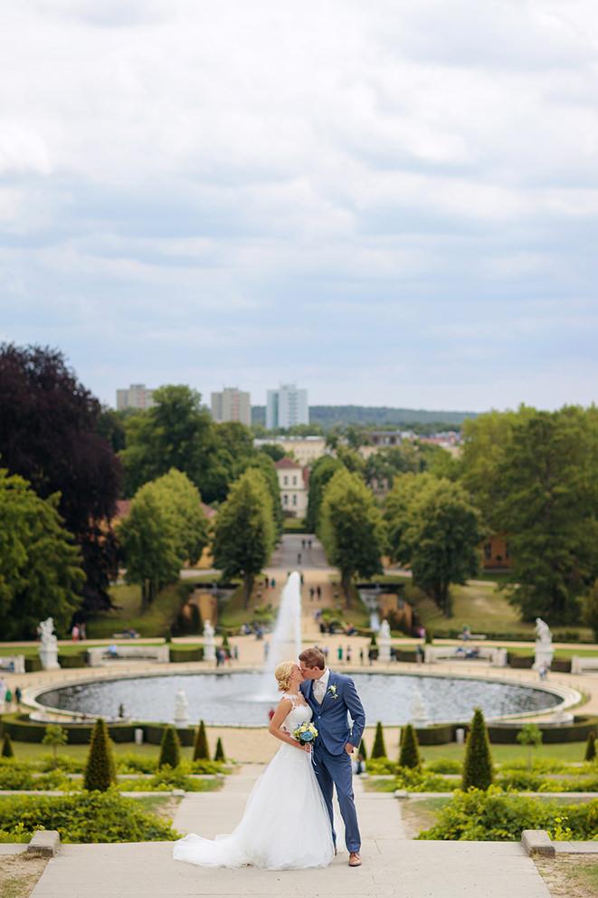 Hochzeitsbild im Park Sanssouci