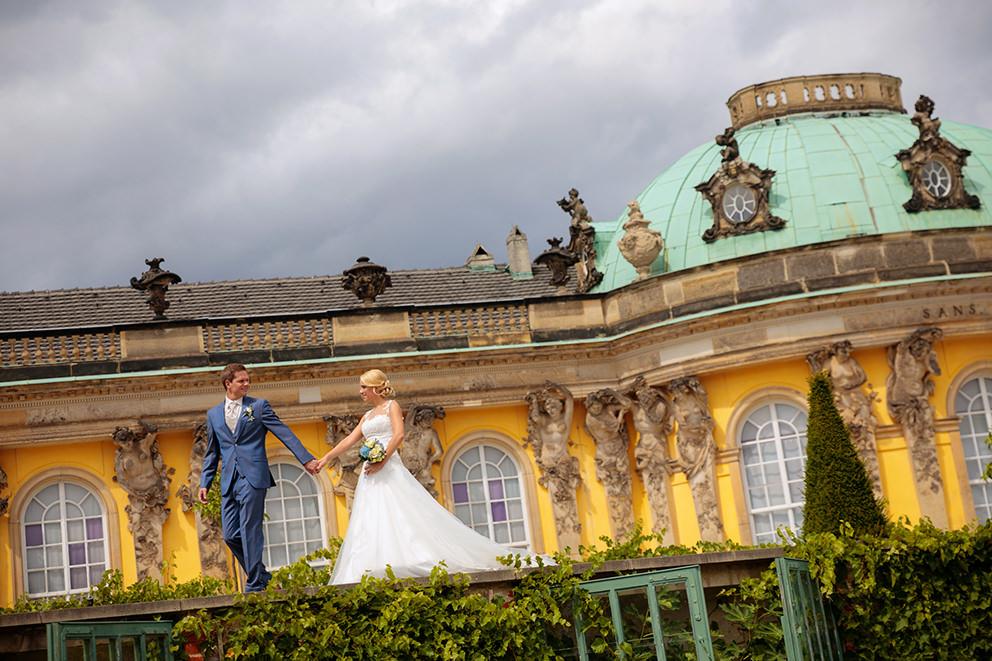 Hochzeitsfoto im Schlosspark Sanssouci in Potsdam