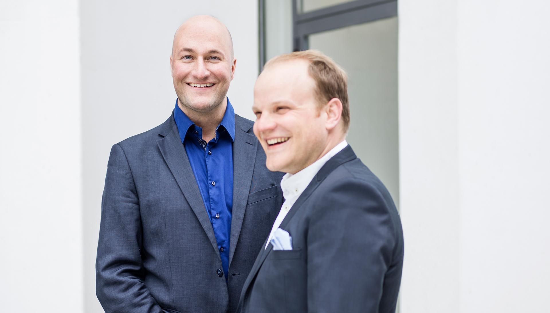 Businessfoto mit Michael Reinhardt und Christian Sommer aus Potsdam