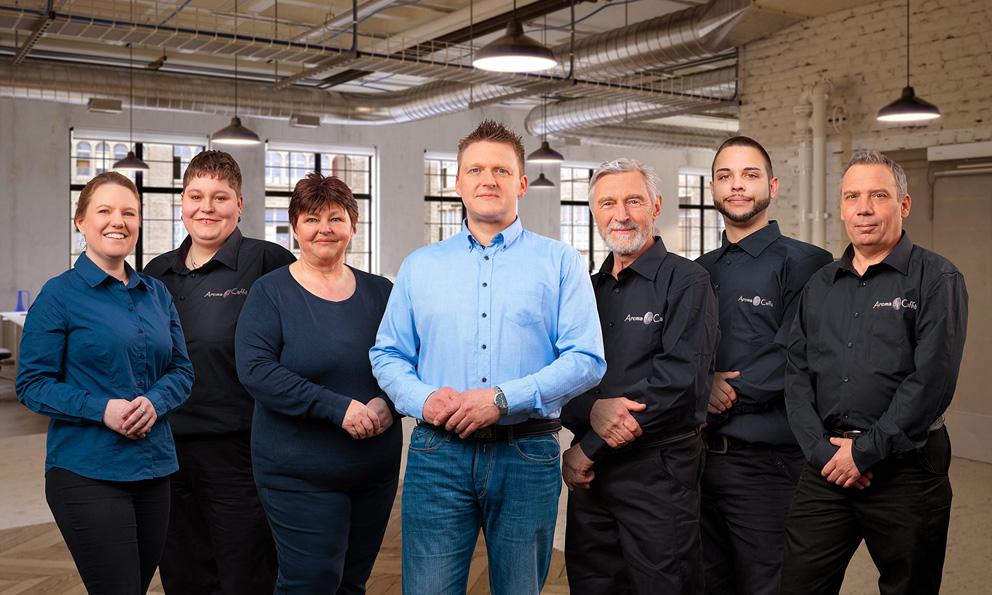 Teamfoto von Gruppe in Unternehmen