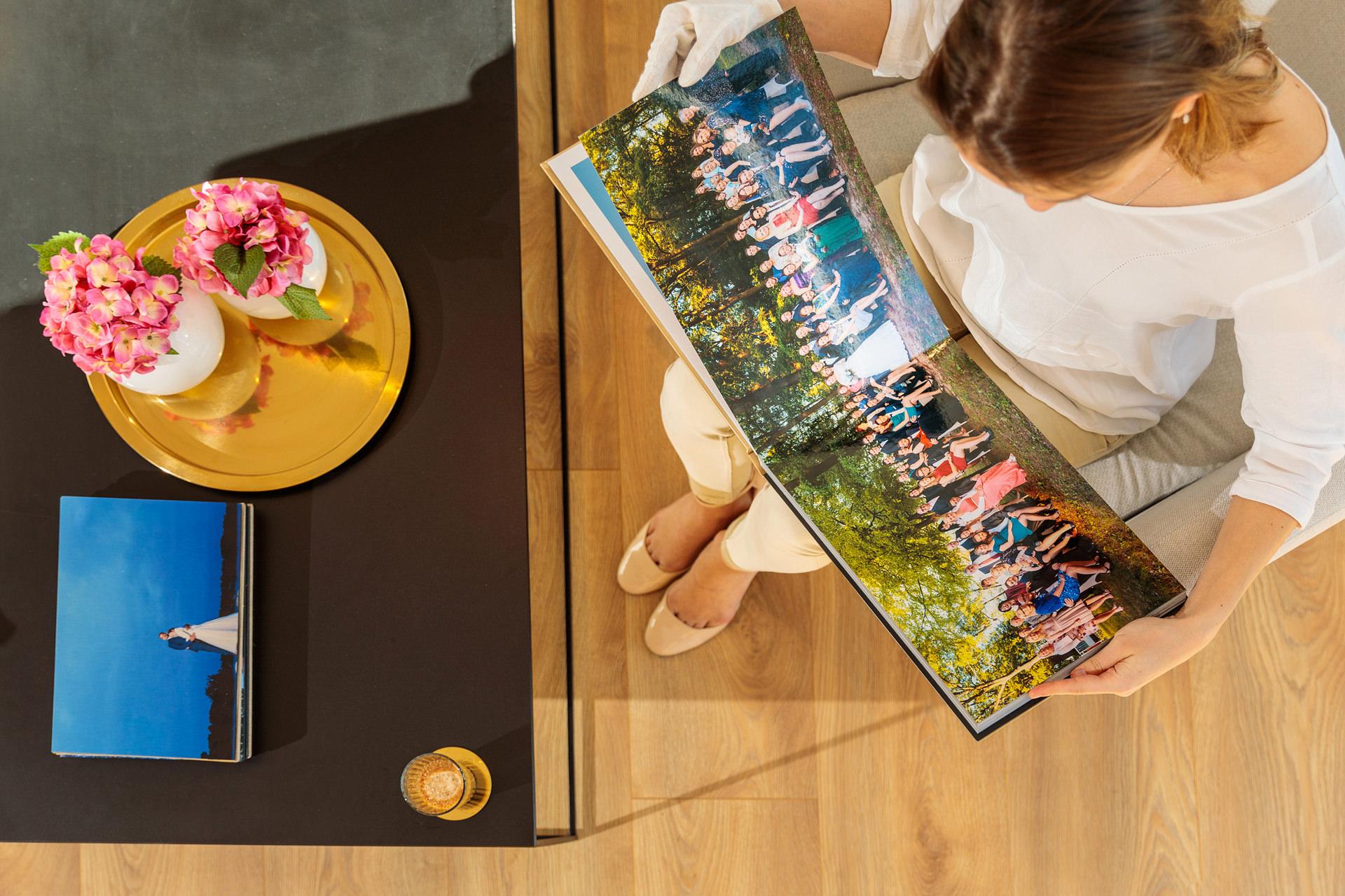 Handgearbeitetes Hochzeitsalbum für Hochzeitsfotos von Reinhardt und Sommer