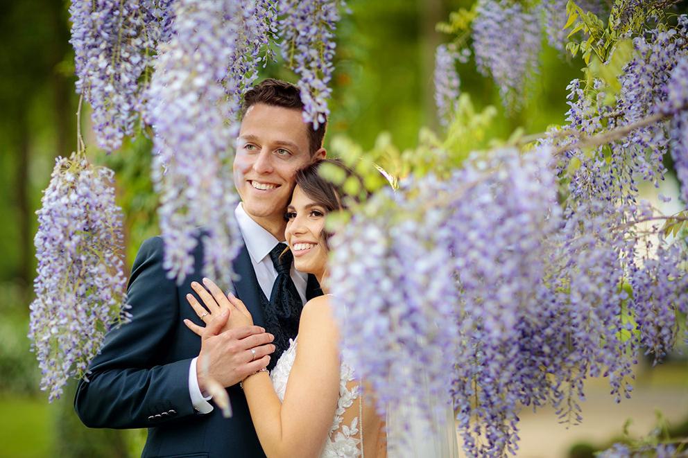 Hochzeitsbild nach einer Trauung in Bad Saarow am Scharmützelsee