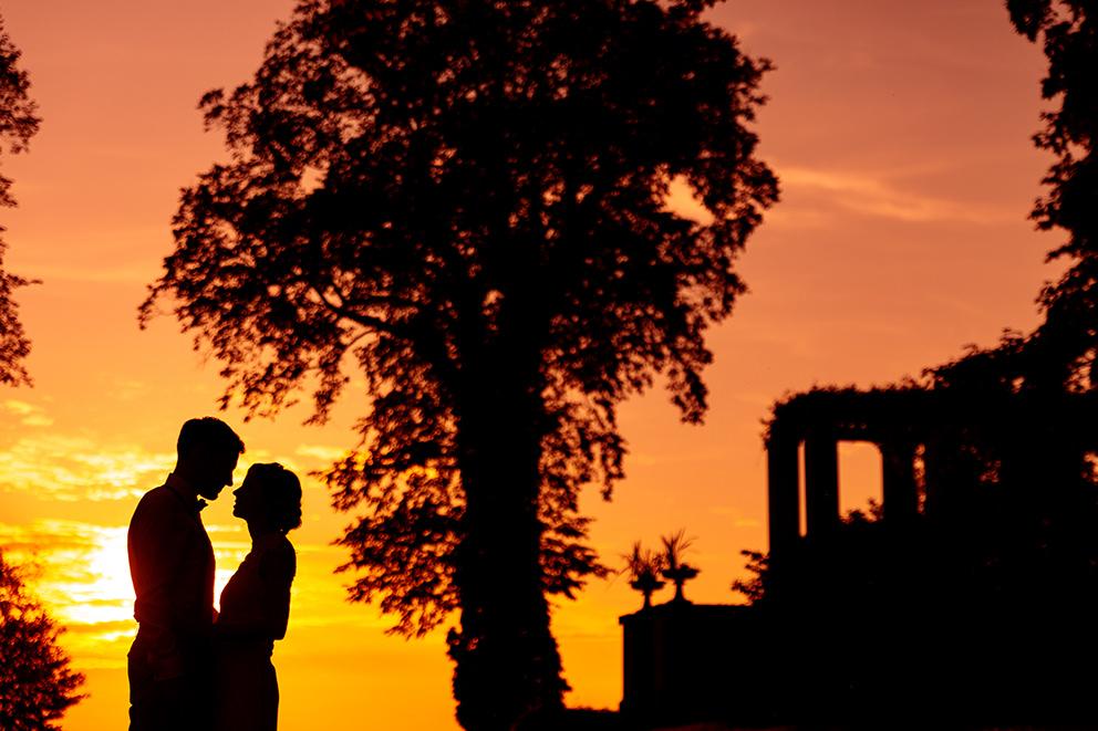 Silhouette Hochzeitspaar in Berlin Wannsee