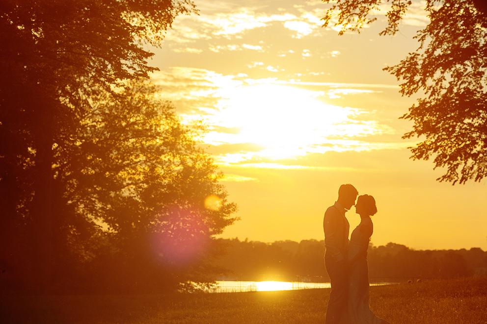 Im Abendlicht entstehen romantische Bilder