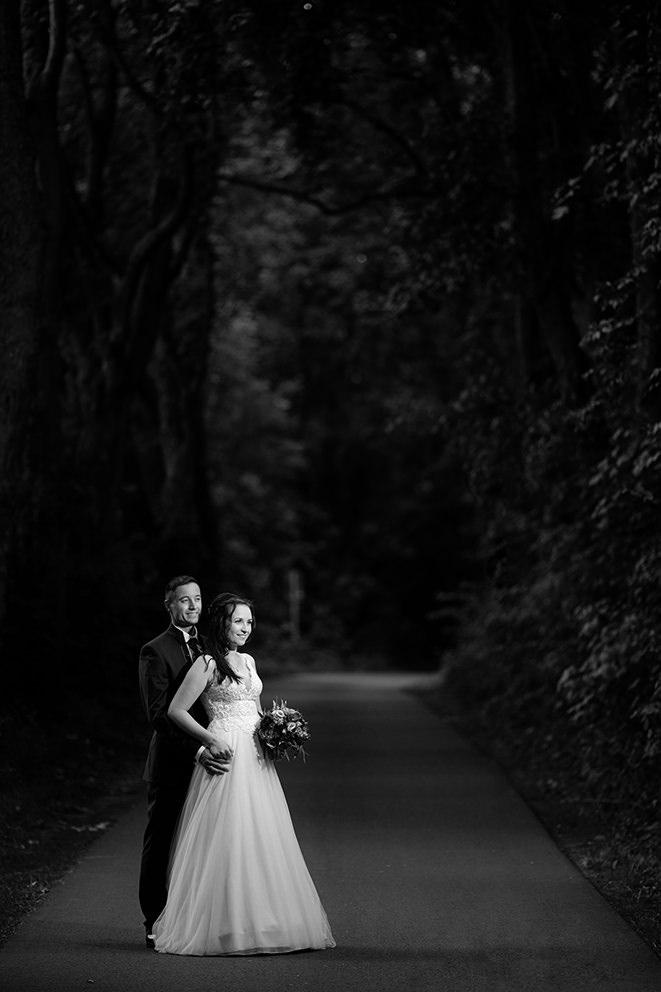 Schwarzweissportrait Hochzeitsbild