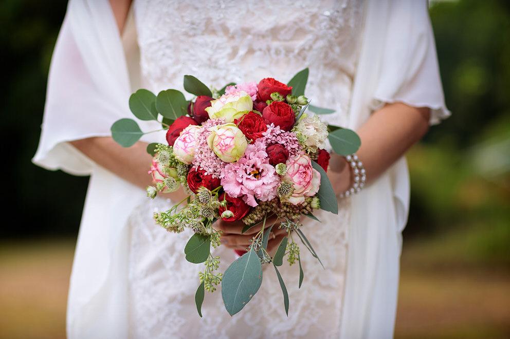 Ein Brautstrauß im Herbst