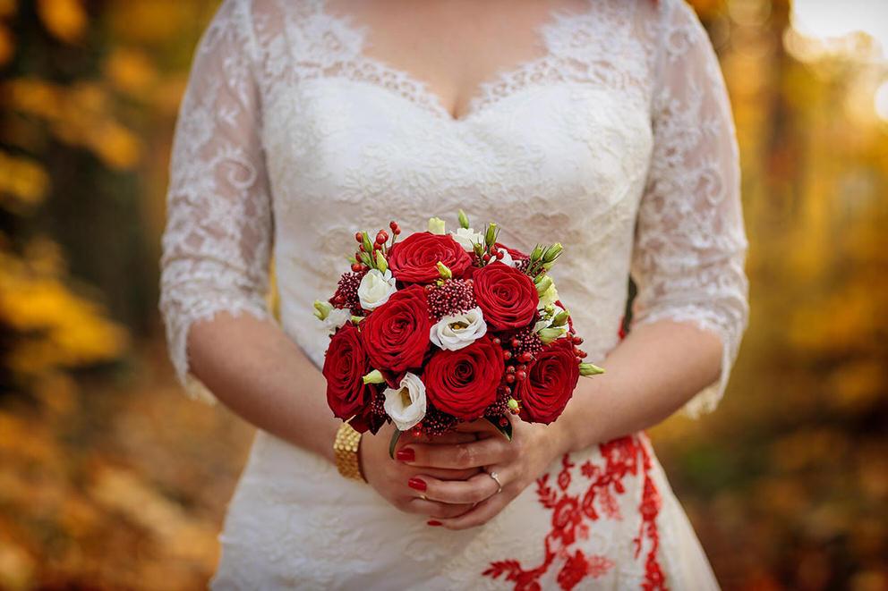 Ein Brautstrauß im Oktober