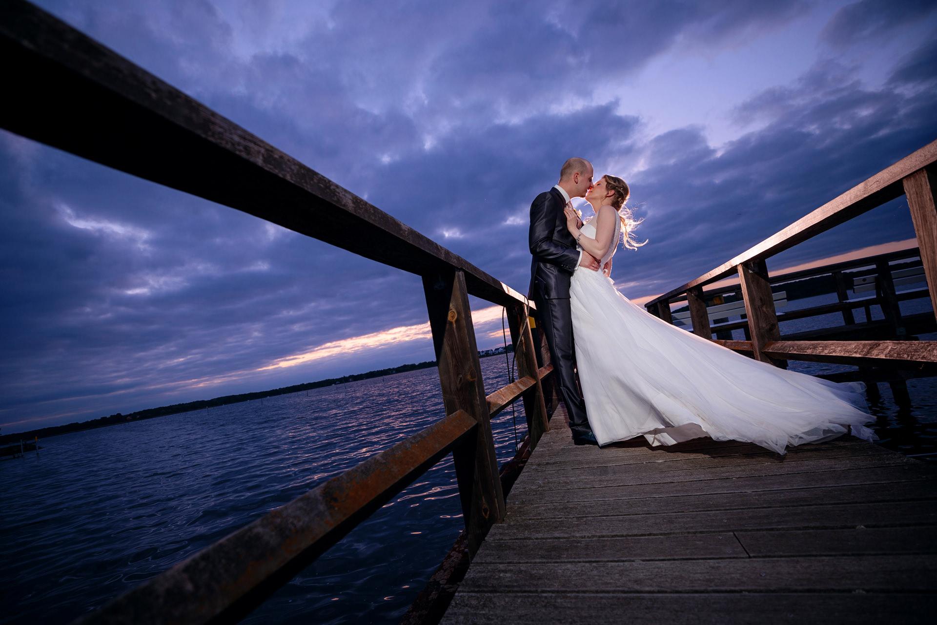 Brautpaar bei Hochzeit in Caputh am Schwielowsee