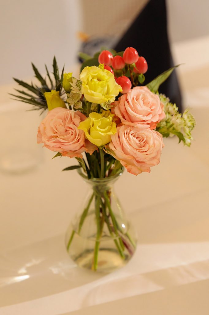 Hochzeitsdekoration bei einer Hochzeit im Oktober