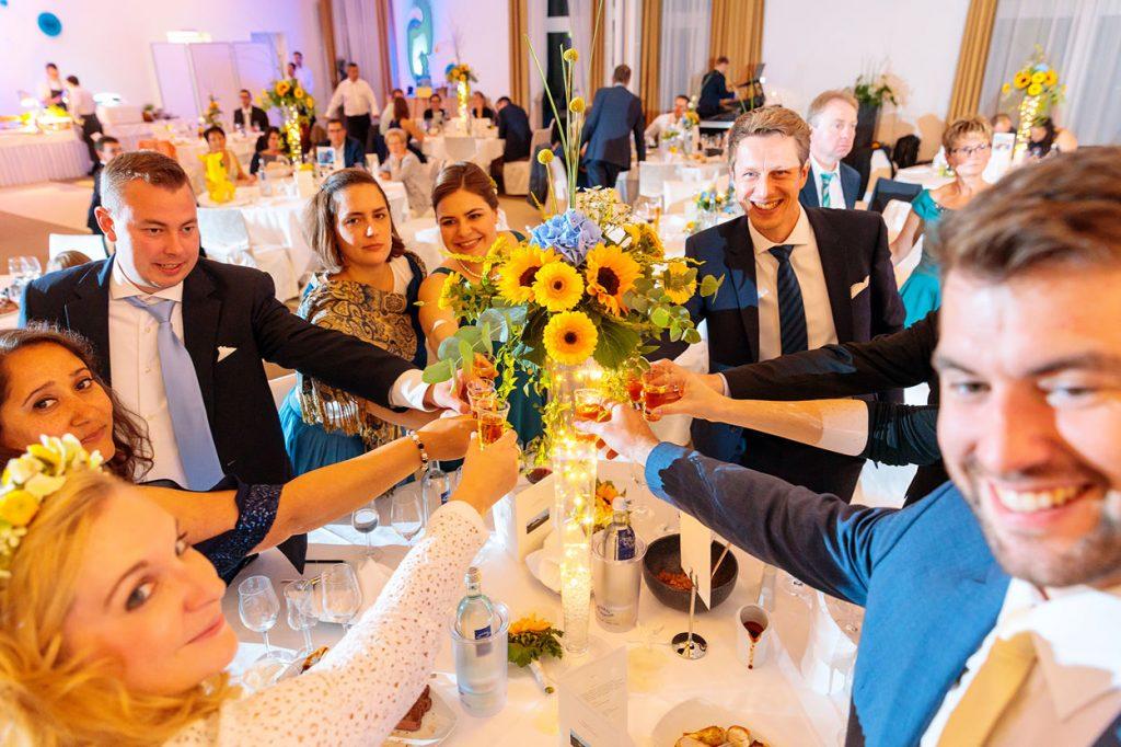 Hochzeitsparty im Arosa Clubhaus