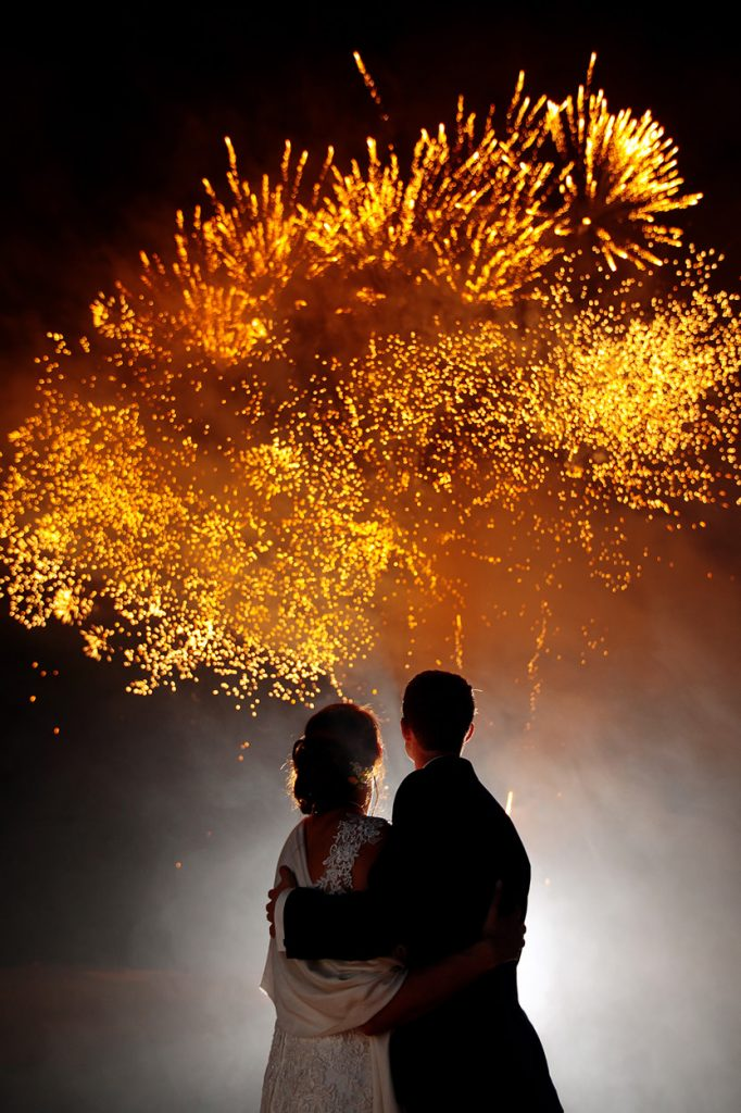Feuerwerk auf dem Golfplatz