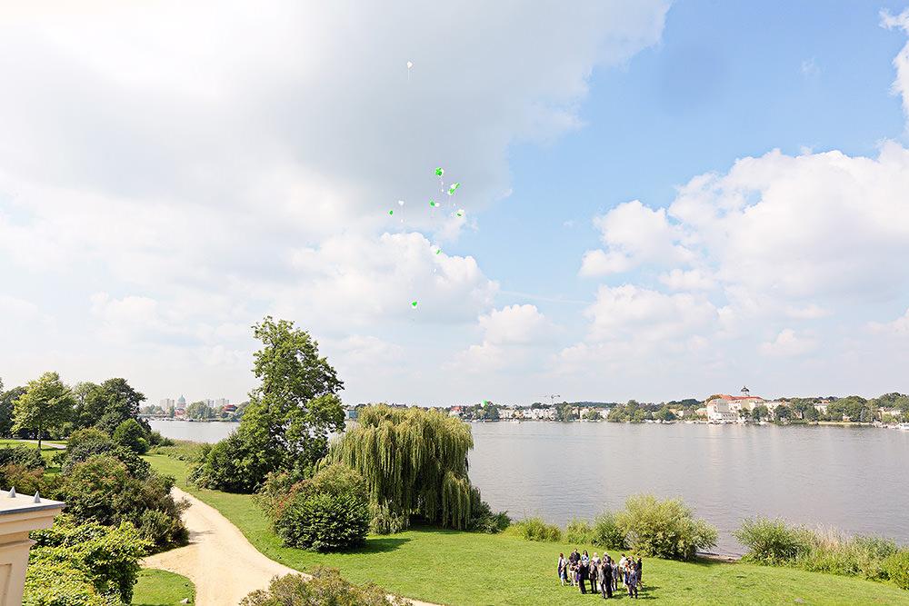 Hochzeit mit Feier im kleinen Schloss Babelsberg