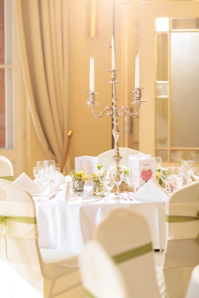 Hochzeitsdekoration im Landgut Stober