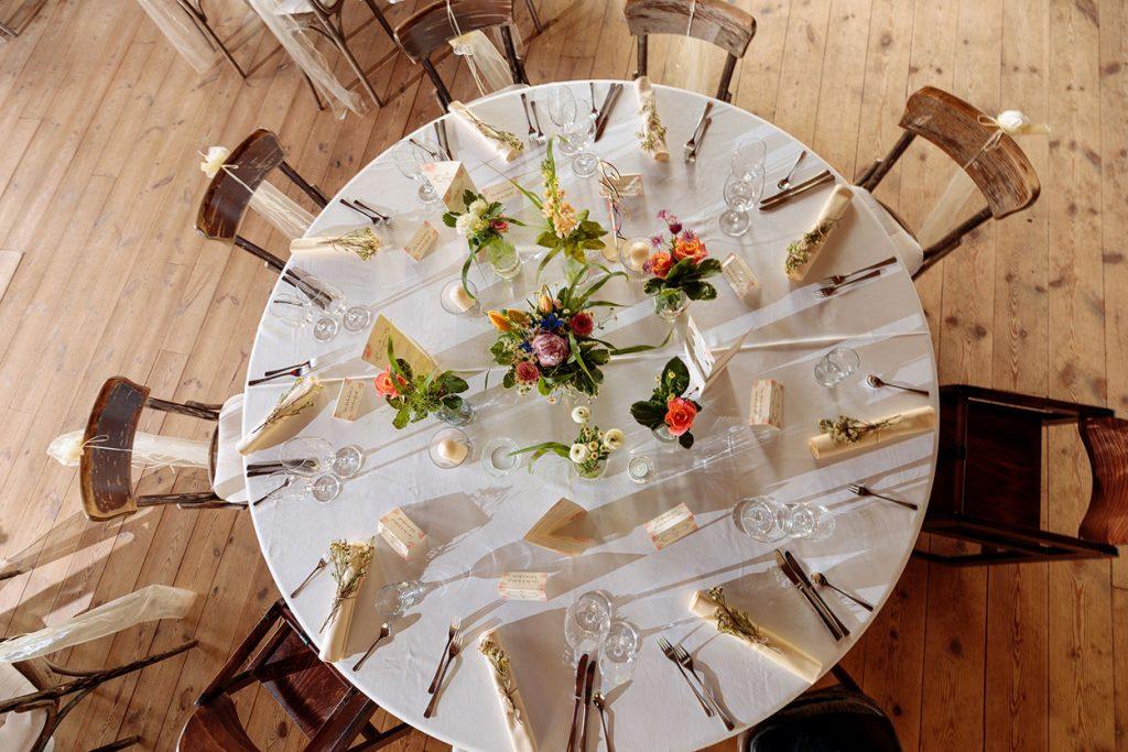 Tischdekoration im Landhaus Alte Schmiede in Niemegk-Lühnsdorf