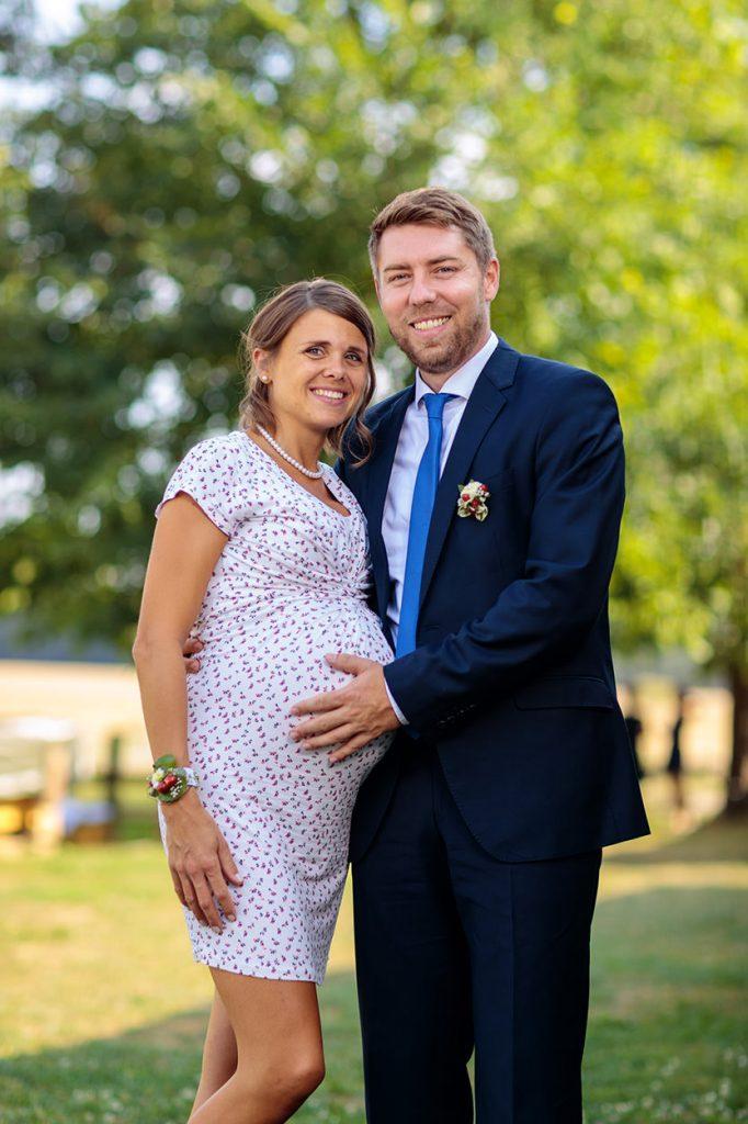 Fotos von den Hochzeitsgästen während der Hochzeitsfeier in Sachsen