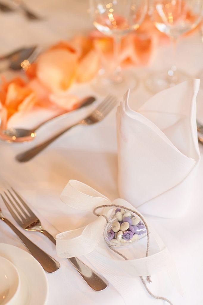 Hochzeitsdekoration im Detail