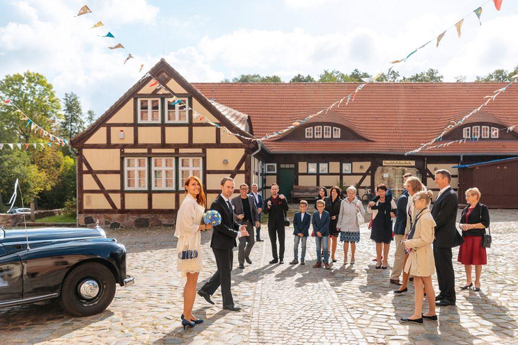 Standesamtliche Trauung auf der Burg Storkow