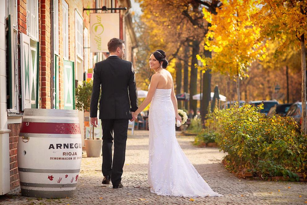 Hochzeitsfotos im herbstlichen Potsdam