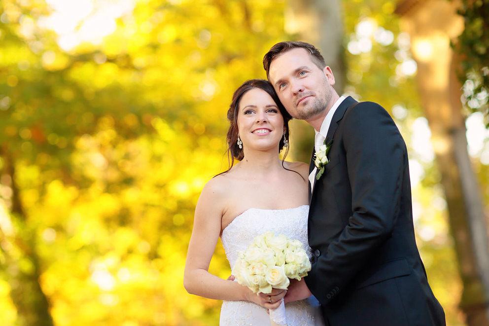 Hochzeitsfotos im Park von Schloss Glienicke