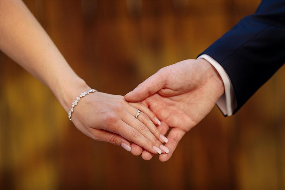 Auch die Details wie die Eheringe werden in unserer Hochzeitsreportage festgehalten