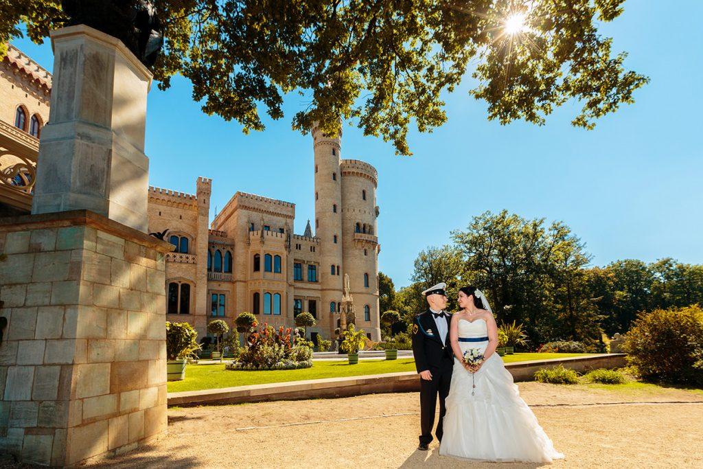 Hochzeitsfotos am Schloss Babelsberg