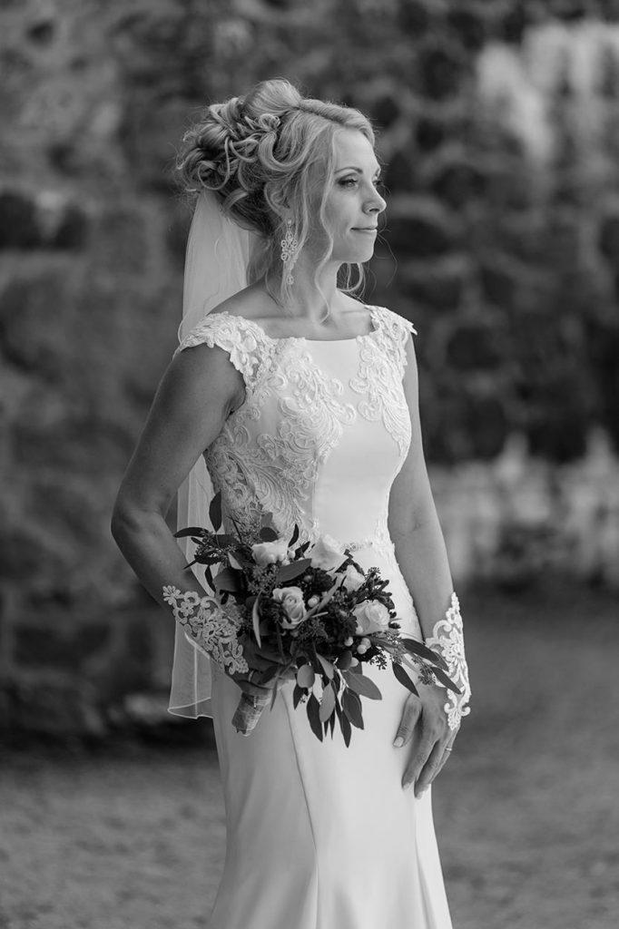 Die Braut nach der Trauung