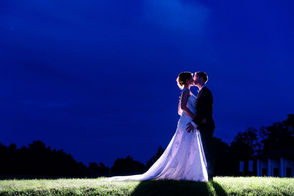 Als krönenden Abschluss gab es noch Hochzeitsfotos vom Brautpaar unter dem Sternenhimmel