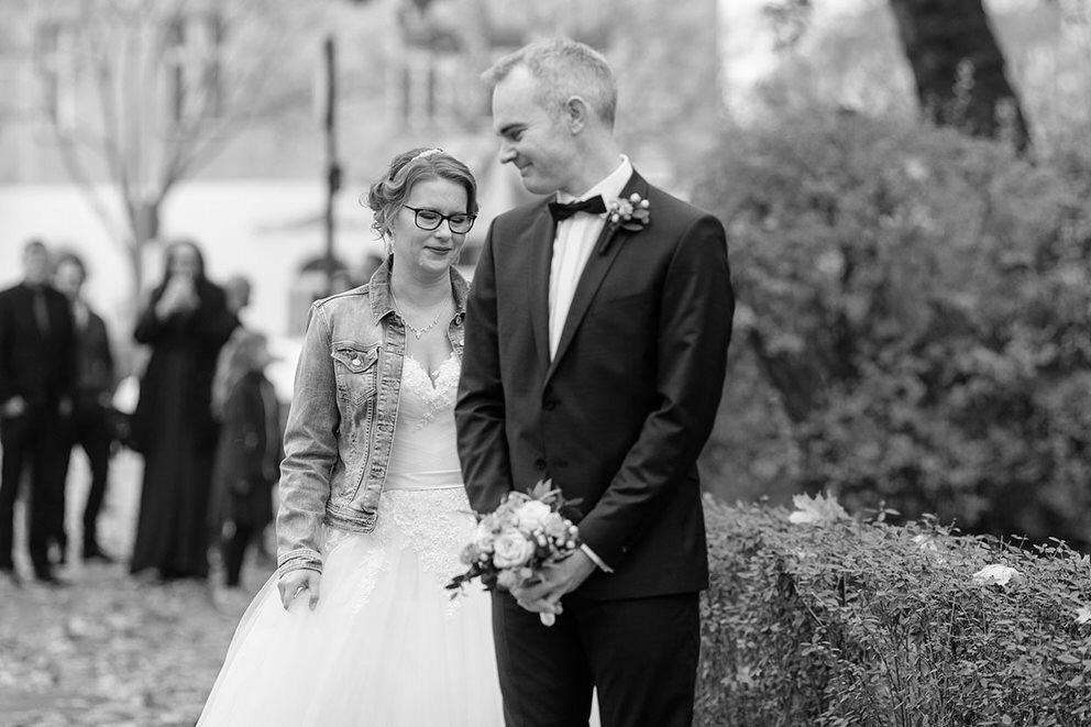 First Look: die Braut kommt an