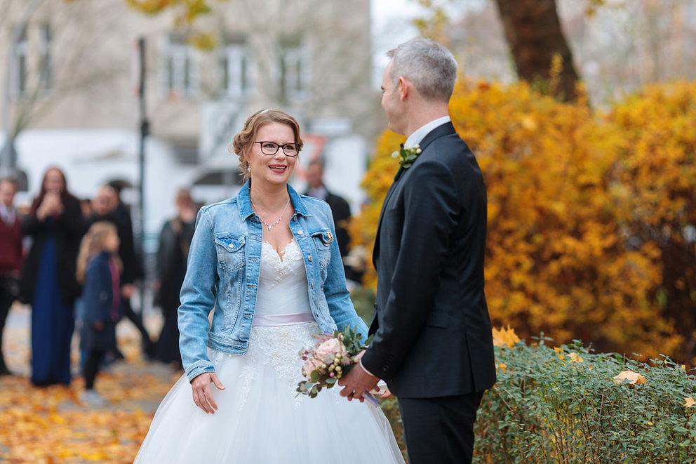 First Look! Der Bräutigam sieht seine Braut zum ersten Mal