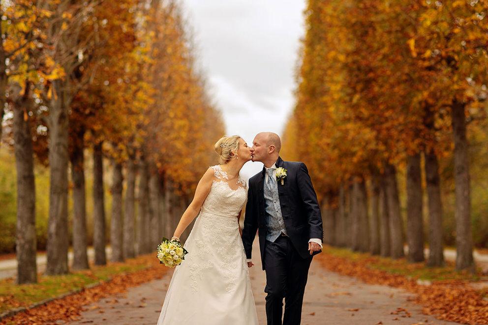 Hochzeitsfotos im herbstlichen Park Sanssouci Potsdam