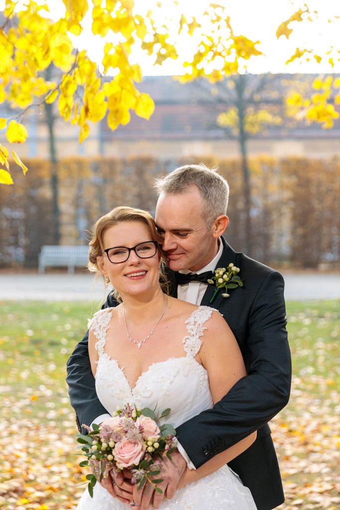 Herbst Hochzeitsfotos im Schlosspark Berlin Charlottenburg