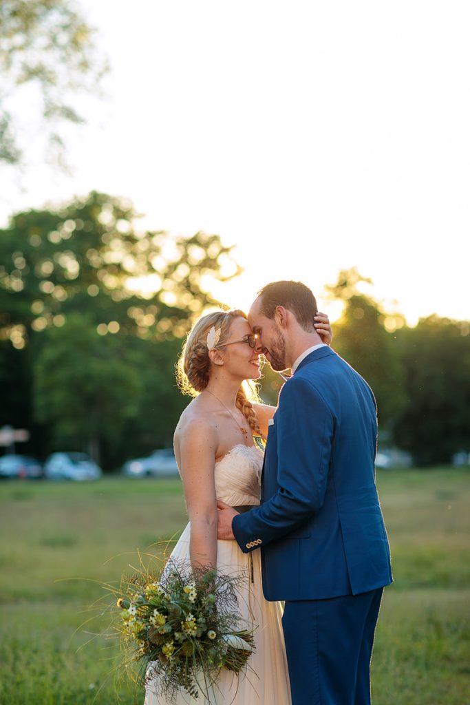 Hochzeitsfotos am Neuen Palais in Potsdam zum Sonnenuntergang