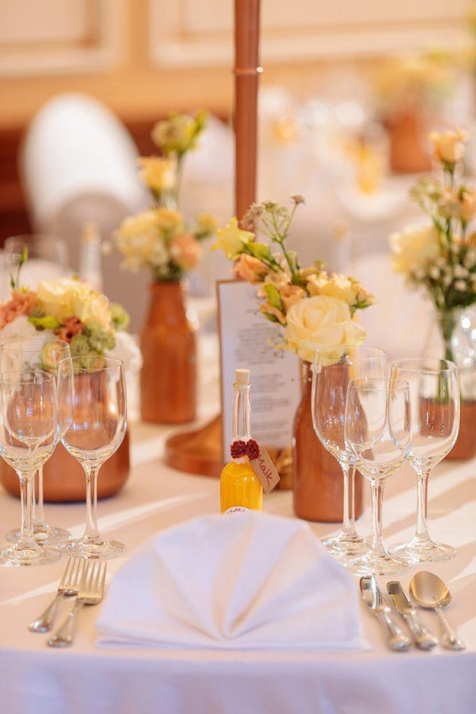 Die Hochzeitsdekoration im Landgut Gühlen bei Neuruppin